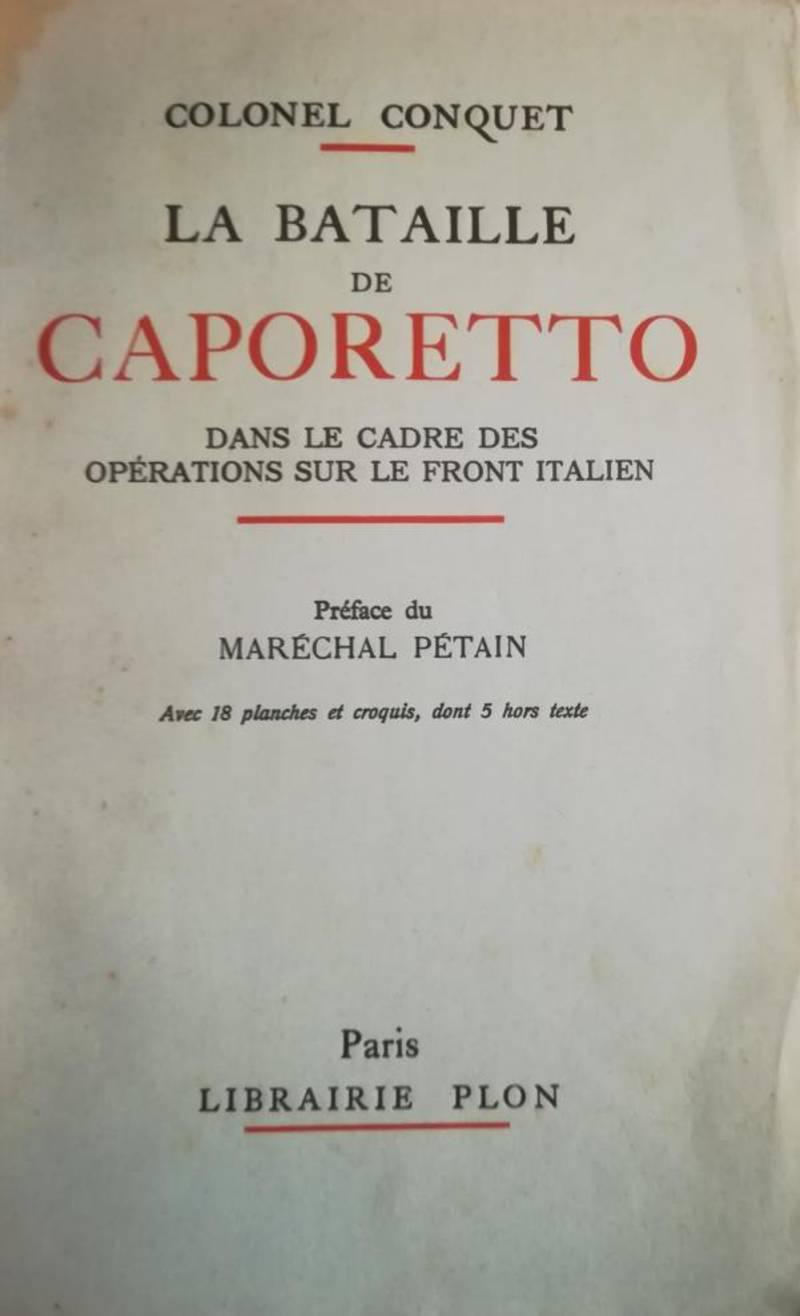 La bataille de Caporetto dans le cadre des opérations sur le front italien