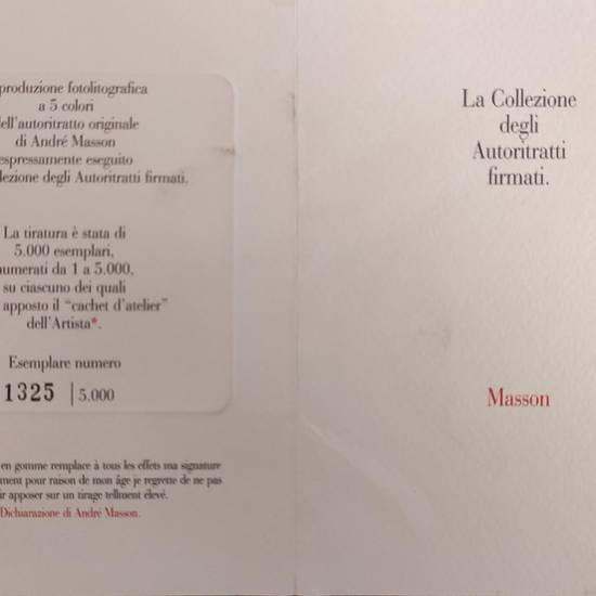 LA COLLEZIONE DEGLI AUTORITRATTI FIRMATI. ANDRE' MASSON