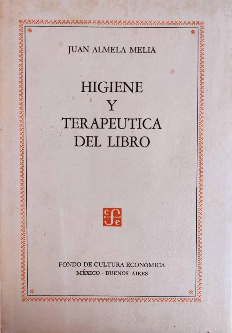 HIGIENE Y TERAPEUTICA DEL LIBRO