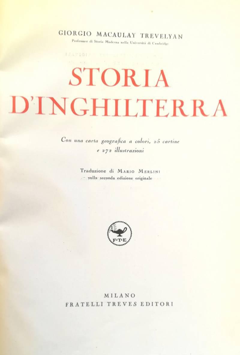 STORIA D' INGHILTERRA