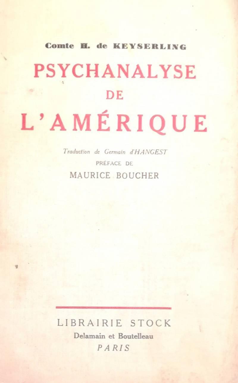 PSYCHANALYSE DE L'AMERIQUE