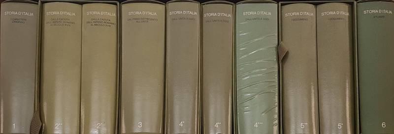 STORIA D'ITALIA. I Caratteri Originali. II Dalla caduta dell'Impero Romano al secolo XVIII (2 volumi). III Dal primo Settecento all'Unit