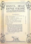 RIVISTA DELLE COLONIE ITALIANE