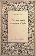 PER UNA STORIA ECONOMICA D'ITALIA