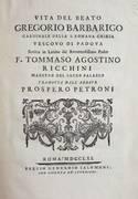 VITA DEL BEATO GREGORIO BARBARIGO CARDINALE DELLA S. ROMANA CHIESA VESCOVO DI PADOVA