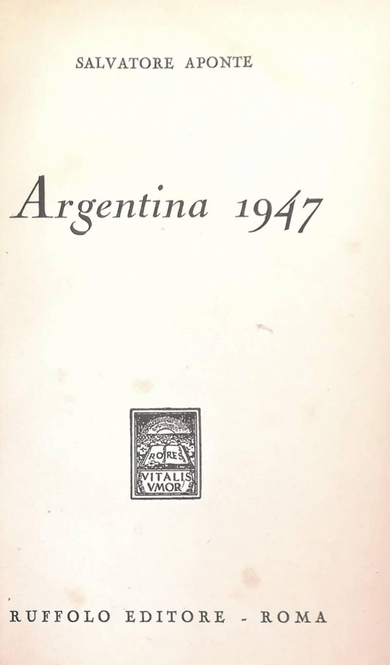 ARGENTINA 1947