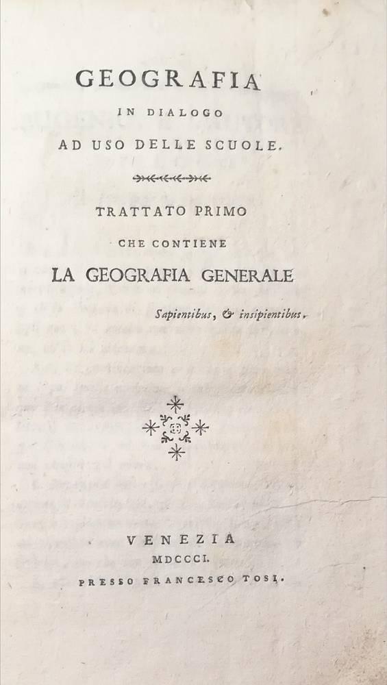 GEOGRAFIA IN DIALOGO AD USO DELLE SCUOLE