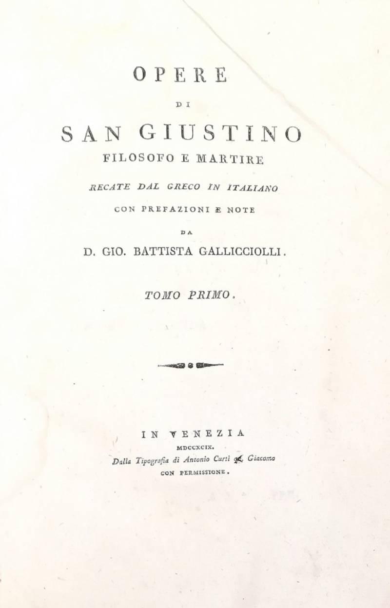 OPERE DI SAN GIUSTINO