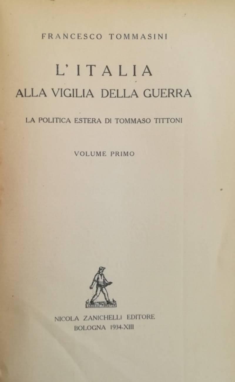 L' ITALIA ALLA VIGILIA DELLA GUERRA
