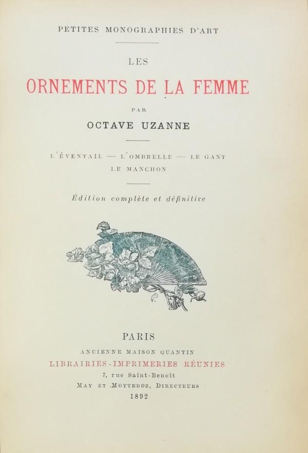 LES ORNEMENTS DE LA FEMME